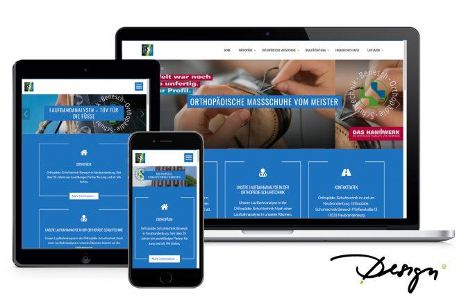 responsive Design Webseitenerstellung Orthopäde wiessmann neubrandenburg