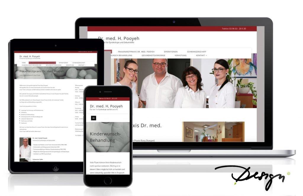 Webdesign Neubrandenburg Responsives Design Webseiten Dr Pooyeh Arztpraxis Wießmann